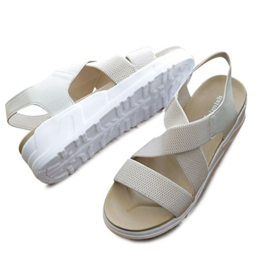 kami et muse Elastic band comfort wedge sandals_KM19s149