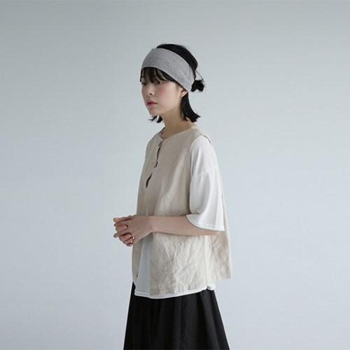 wearable linen vest (ivory)_(1227502)