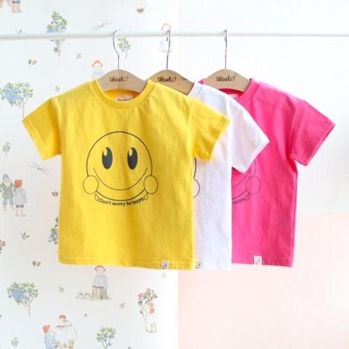 스마일 프린트 아동 반팔 티셔츠 IB1CH352U