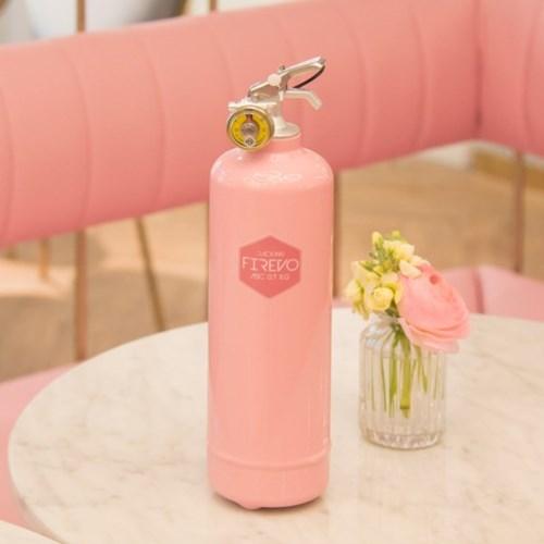 피레보(FIREVO) 디자인 소화기 핑크블로섬 컬러