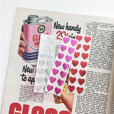 Glitter Mini Heart Sticker 글리터미니하트스티커(28개)