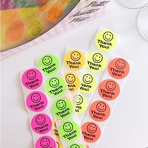 Thank you! Smile Sticker (20개)