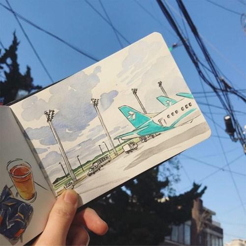 [텐텐클래스] (용산) 나만의 여행드로잉 (6주완성)