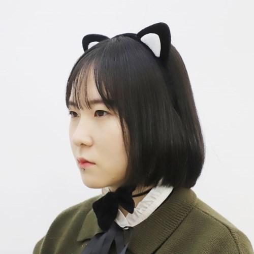 검은 고양이 머리띠 3종세트_(301693458)