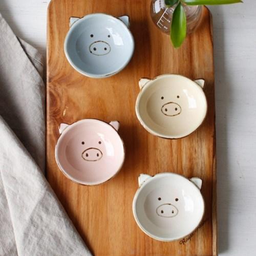 (남승일 도자기) 돼지 깊은 종지- 4color_(2695993)