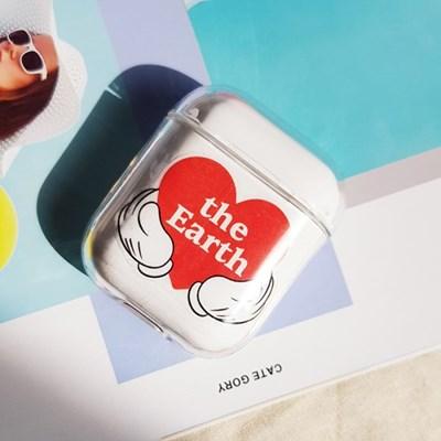 에어팟 클리어 케이스+정품 미키 스티커 세트