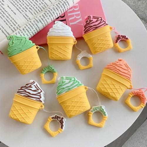 소프트 아이스크림 에어팟 케이스