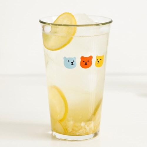 강화 유리컵 500 - 02 Jelly Bear