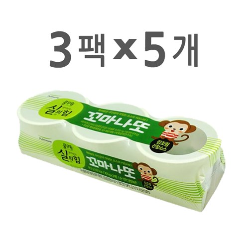 [풀무원]꼬마나또 김조림간장소스 1호 세트 (3팩 x 5개)