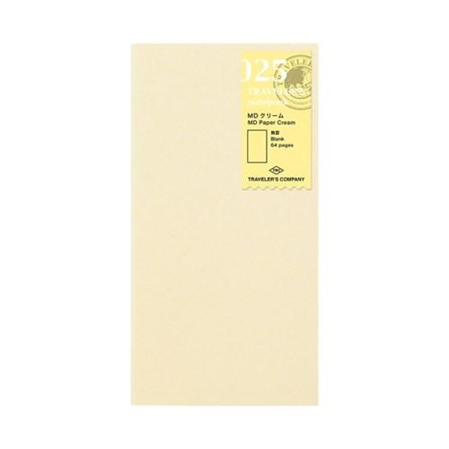 트래블러스노트 리필 MD Paper Cream