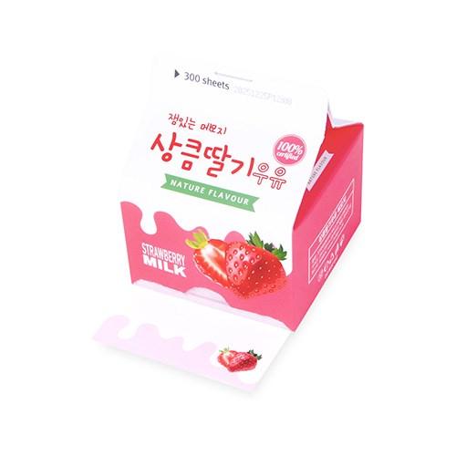상큼 딸기 우유 메모지