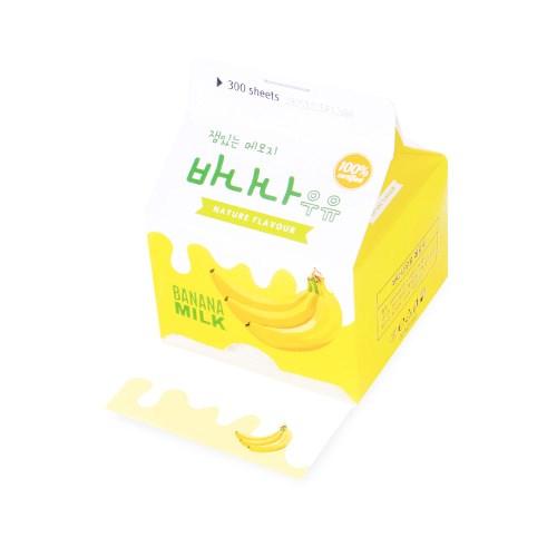 노랑 바나나 우유 메모지