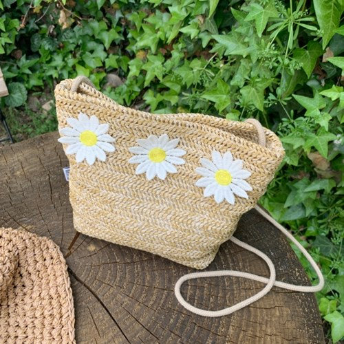 데이지크로스백 Daisycross bag (S/M size) - Natural