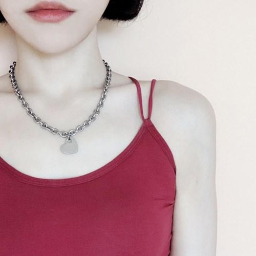 [OBLING] ♥ IN 하트 네크리스 / 써지컬스틸