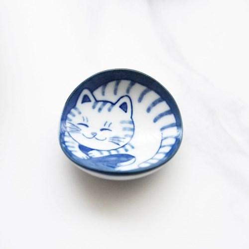 일본식기 블루네코 줄무늬 젓가락받침_(1298017)
