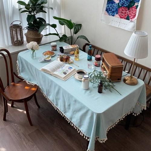 물빛스트라이프 식탁보 테이블보 140x175cm 테이블러너