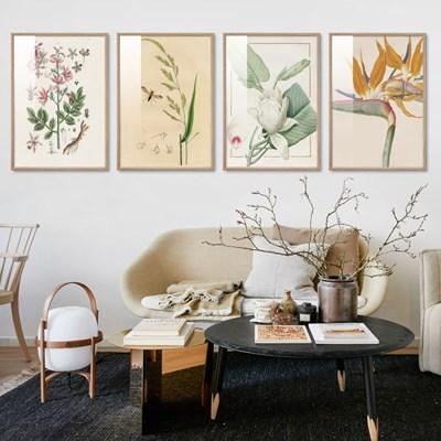 빈티지 식물꽃 포스터 16종 보태니컬아트 인테리어그림액자