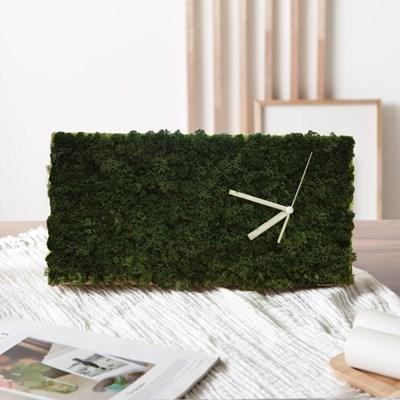 [숲앤숨] 모스 벽시계(40x20cm) 7색상