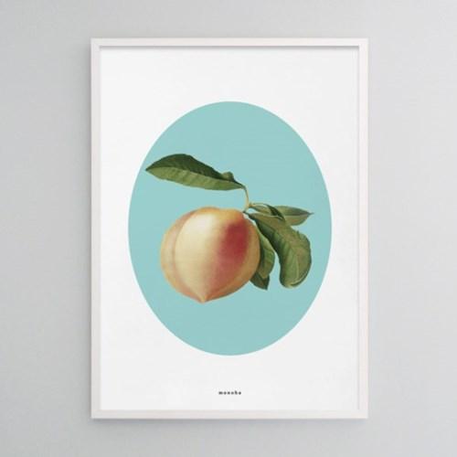 유니크  인테리어  디자인 포스터 M 복숭아 여름 과일