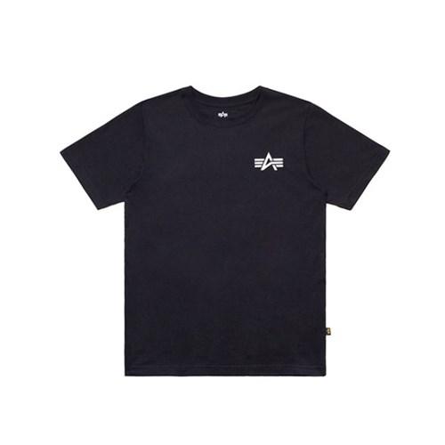 알파인더스트리 스몰 로고 반팔 티셔츠 BLACK_(201817927)