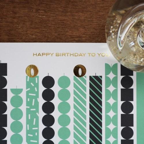 Birthday Card with Candle light sticker - ver.3 (생일카드)