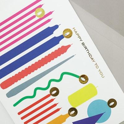 Birthday Card with Candle light sticker - ver.1 (생일카드)