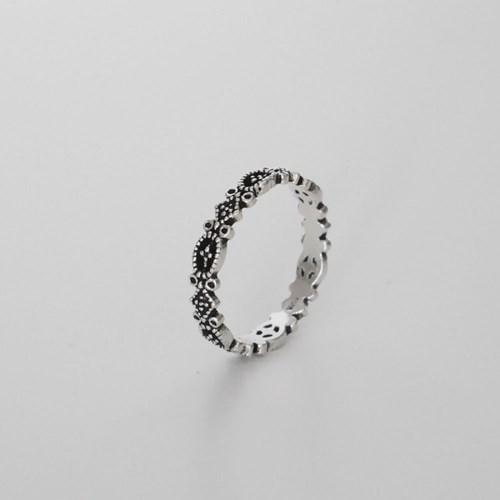 [925실버] 블랙 앤틱실버 반지 black antique silver ring