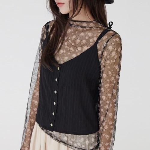 texture button vest (4colors)_(1308824)