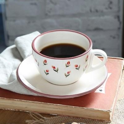 아틀리에 커피잔 1인조 세트 (레트로 레드)_(1056081)