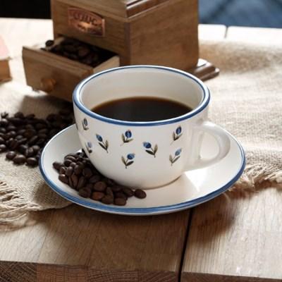 아틀리에 커피잔 1인조 세트 (레트로 블루)_(1056080)