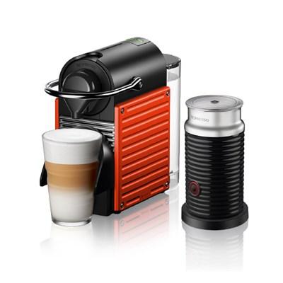 [네스프레소] 픽시 리프레쉬 C61 레드+에어로치노 캡슐 커피머신