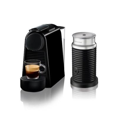 [네스프레소] 에센자미니 D30+에어로치노 캡슐 커피머신 BK+BK