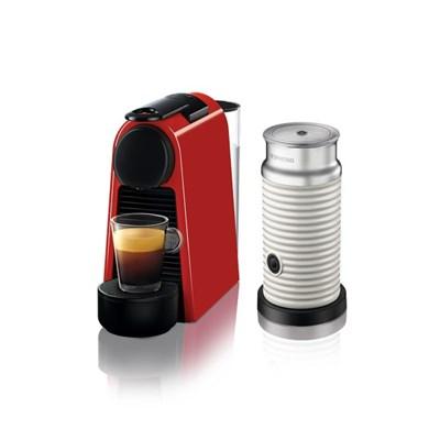 [네스프레소] 에센자미니 D30+에어로치노 캡슐 커피머신 RD+WH