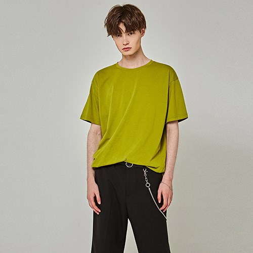 TOUCH OVER HALF T-SHIRTS_OLIVE