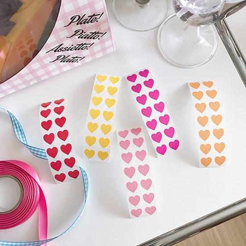 Mini Heart Sticker (28ea)
