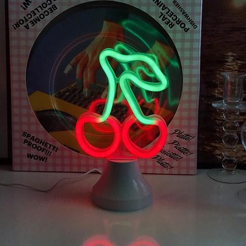 Cherry Neon Lamp