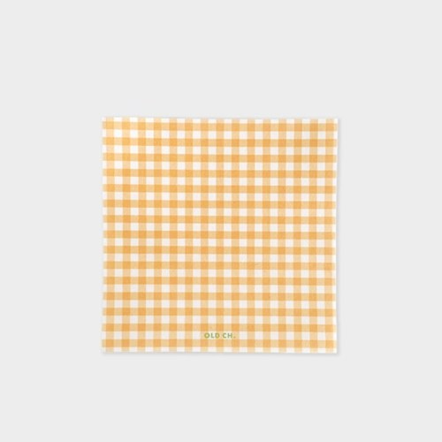 GINGHAM MEMO PAD - Orange