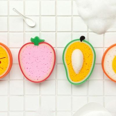 과일 스폰지 수세미