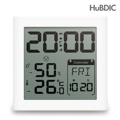 휴비딕 디지털 시계 온습도계 HT-5 달력_(1240323)
