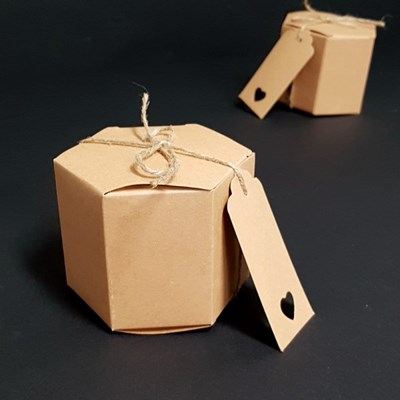 육각상자(8.5x7cm-10매)+마끈+이름표 세트
