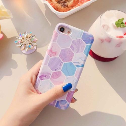 (잘된케이스) hexagon marble phone case
