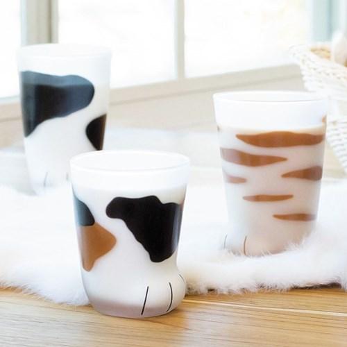 코코네코 정식라이센스 고양이발 유리컵 아기고양이 230ml