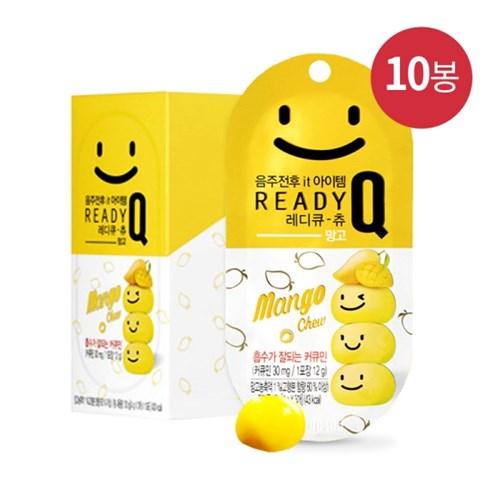 레디큐 츄 망고, 바나나 음주전후 숙취해소 젤리 1박스(12g x 10봉)