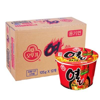 [오뚜기] 열라면 큰컵 105gx12개(BOX)
