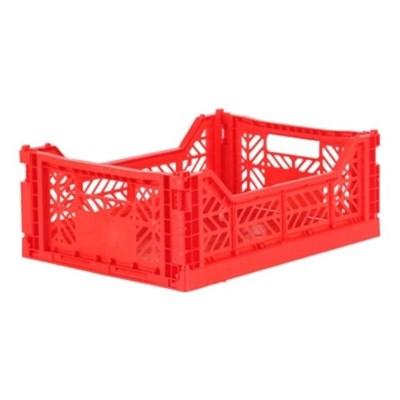 아이카사 폴딩박스 M red