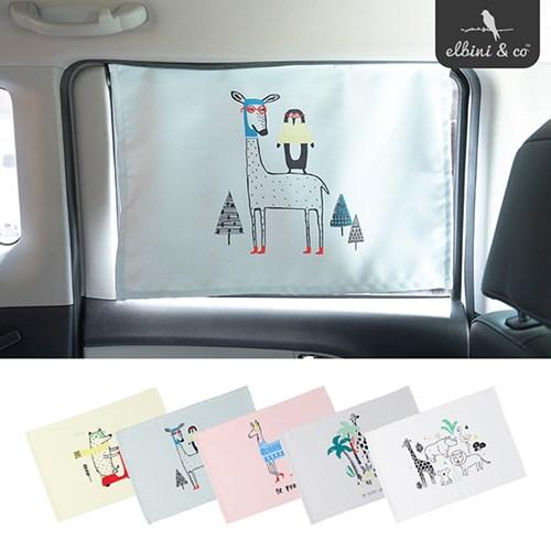 3중암막 차량용 햇빛가리개 자석타입 1+1 세트_색상선택
