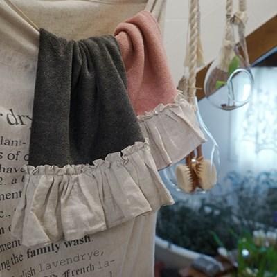 린넨 프릴 타월 : Linen frill towel [2colors]