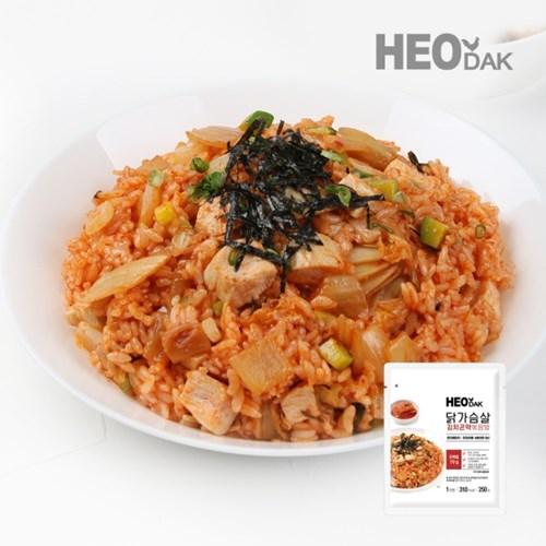 닭가슴살 김치 곤약 볶음밥 250g + 비엔나 소시지 오리지널 1팩