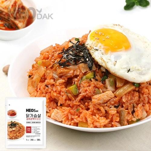 허닭 닭가슴살 김치 곤약 볶음밥 250g