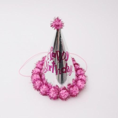 은박 솜방울 고깔모자 (핑크)_(301715061)